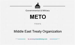 METO - Middle East Treaty Organization in Government ...