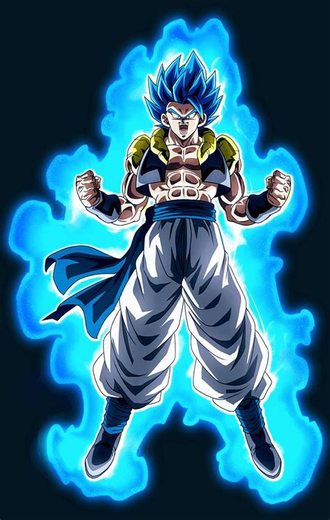 gogeta super saiyan blue dragon ball super personagens