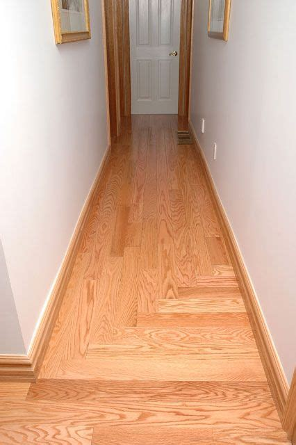 wood flooring direction natural red oak direction change home entry pinterest