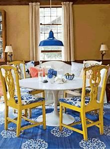 Chaises Originales Salle A Manger : un int rieur salle manger avec des couleurs qui en jettent ~ Teatrodelosmanantiales.com Idées de Décoration