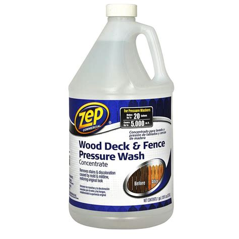 zep  oz deck  fence cleaner zudfw  home depot