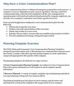 crisis communication plan template 4 free word With sample crisis management plan template