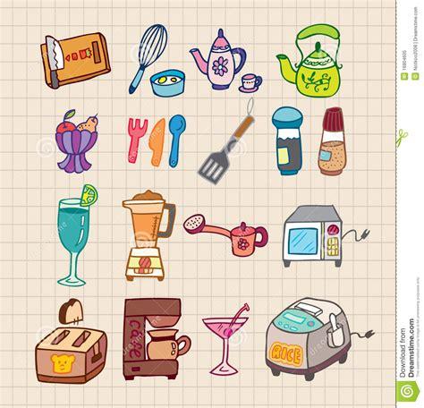 appareils cuisine graphisme d 39 appareils de cuisine illustration de vecteur