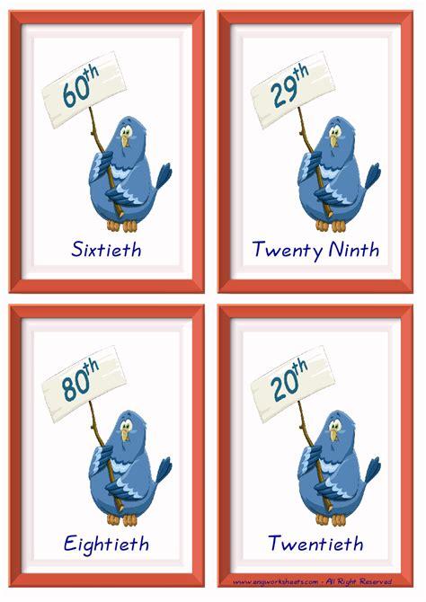 ordinal numbers esl printable english vocabulary worksheets