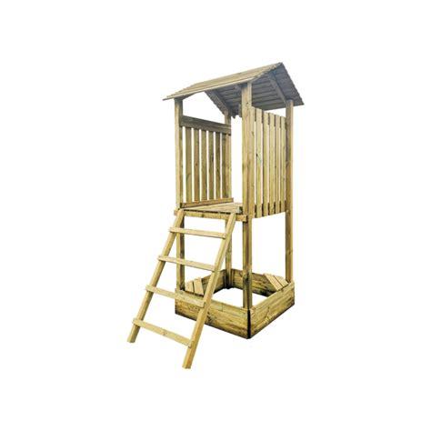 Koka tornis ar jumtu - bērnu rotaļlaukuma B modulis | 4IQ ...