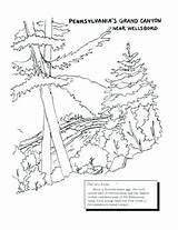 Coloring Pages Canyon Grand Stamp Postage Pennsylvania Getcolorings Printable Getdrawings sketch template