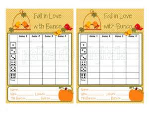Free Printable Bunco Score Sheets