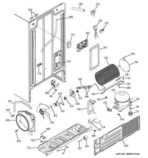 ge refrigerator  series parts model gshjsxbss sears partsdirect