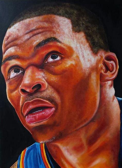 Russell Westbrook Intensity Painting By Freddie Simpkins