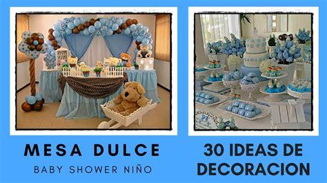 decoracion de mesa para baby shower mesa dulce baby shower ni 209 o 30 ideas de decoracion