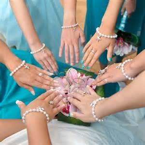bridesmaid bracelet pearl bracelet with starfish charm wedding jewelry abiddabling wedding on artfire
