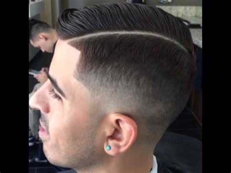 fade haircut  side part youtube