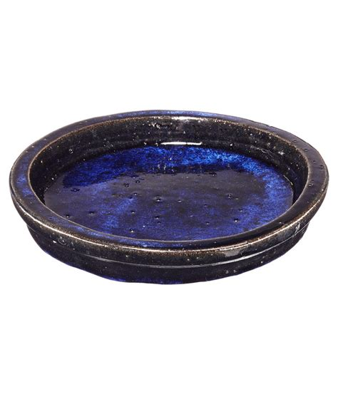 Untersetzer Blumentopf Rund by Keramik Untersetzer Dang F 252 R Blumentopf Rund Blau Dehner