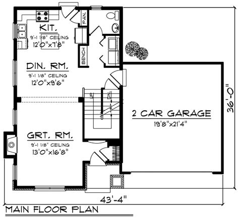 House Plan 96148 Traditional Style with 1398 Sq Ft 3
