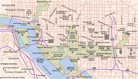 washington dc map  printable maps