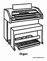 Organ Instrument Coloring Sheets Colormegood sketch template