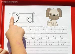 handwriting practice for kids d is for dog With finger tracing alphabet letters