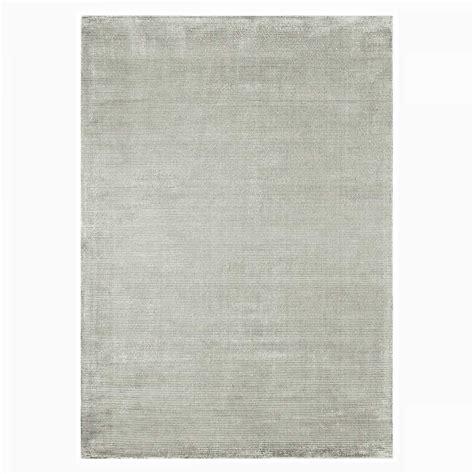 tapis contemporain gris en viscose et coton tiss 233