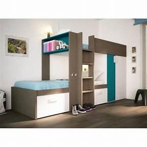 lit mezzanine avec armoire integree 28 images lits superpos 233 s julien 2x90x190cm armoire - Lit Mezzanine Avec Armoire Integree