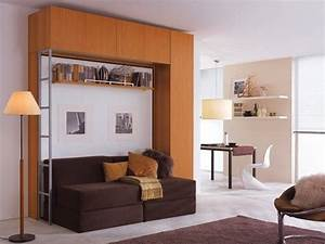 Lit Escamotable 2 Places : armoire lit escamotable 2 pers canap modulable ~ Melissatoandfro.com Idées de Décoration