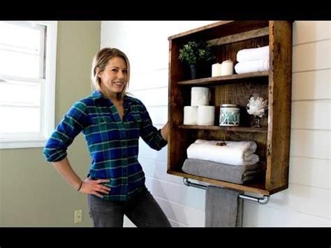 rustic bathroom cabinet easy diy project youtube