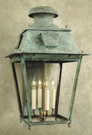 ellis square crafted copper wall lantern