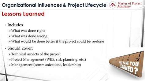 lessons learned project management lessons learned secret code of project management master of project academy