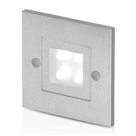 lighting 240v cast aluminium square led wall light at uk electrical supplies