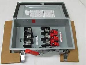 Siemens Hf362j Safety Switch 60 Amp 600volt 3ph 3r  3s  12  13 Fused Disconnect Nib