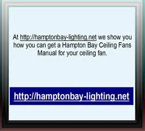 hton bay ceiling fans manual youtube