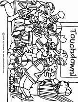 Football Coloring Printable Pages Worksheets Kindergarten Preschool Math Clip Worksheeto Via sketch template