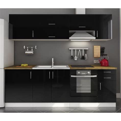 meuble de cuisine noir et blanc meuble de cuisine noir laque