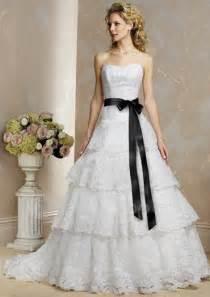 Black Lace Wedding Dress with Sash