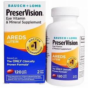 Bausch  U0026 Lomb  Preservision  Areds Lutein  Eye Vitamin  U0026 Mineral Supplement  120 Soft Gels