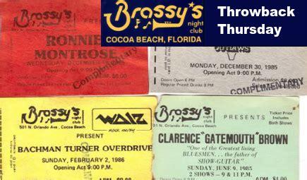 throwback thursday brassys night club  cocoa beach