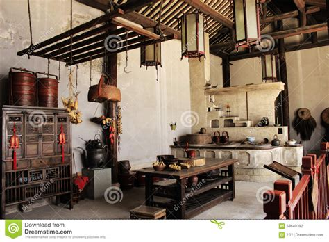 Traditional Chinese Kitchen Stock Photo  Image Of Dynasty
