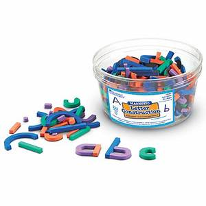 Magnetic letter construction learning resourcesr for Magnetic letter construction