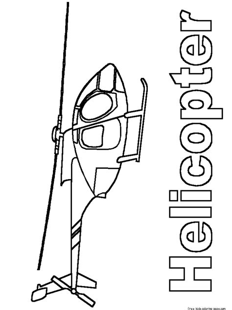 Print out free army helicopter coloring pages for kidsFree