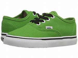 Vans Kids Authentic Toddler line Lime True White 6pm