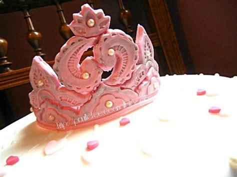 couronne pate a sucre gateau de princesse couronne en p 226 te 224 sucre prunille fait show