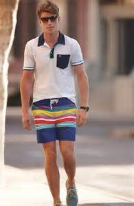 Men's Summer Shorts and Shoes Pictures