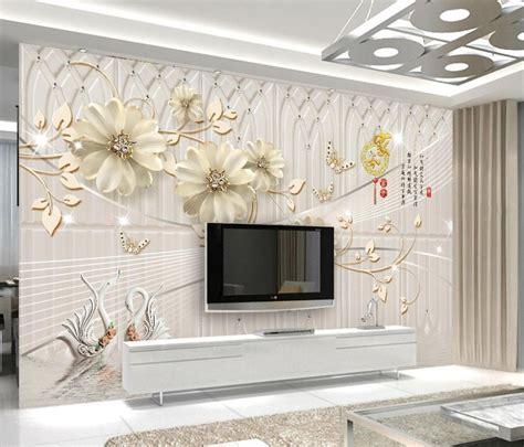 custom european  murals wallpaper flowers beautiful