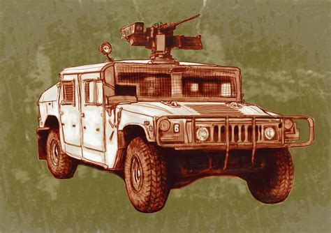 military hummer drawing american 39 s new army car hummer stylised art sketch