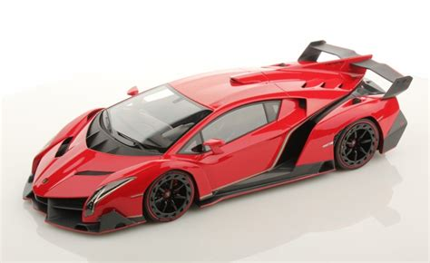 lamborghini veneno diecast model kyosho red  scale