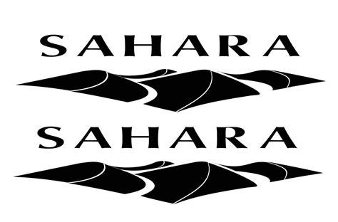jeep wrangler sahara logo pair of sahara jeep decals choose color white black