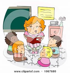 Preschool Teacher Reading A Story Posters, Art Prints by ...