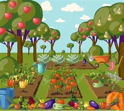 Vegetable Garden Clipart Veggies Jardin Banner Illustration