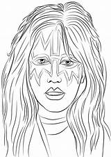Kiss Coloring Band Ace Frehley Rock Printable Pop Colorare Disegni Cantanti Famosi Onlinecoloringpages Gwiazdy Sheet Drukuj sketch template