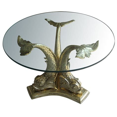 If your home has that coastal theme, this dolphin coffee table will add the finishing touch. Monumental Brass Dolphin Table at 1stdibs