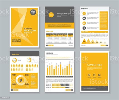 page brochure flyer report layout design template
